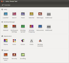 Unity Tweak Tool en los repositorios de Ubuntu Raring Ringtail