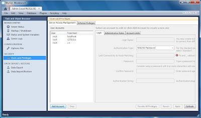 Crear usuario y establecer permisos de MySQL Server con MySQL Workbench