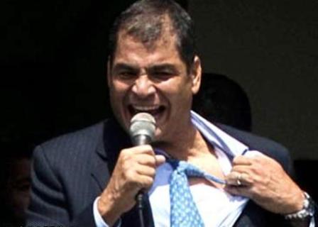 La credibilidad de Rafael Correa cayó 10 puntos
