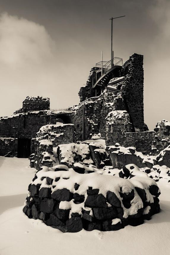 Turm auf der Burgruine Hohnstein, Südharz