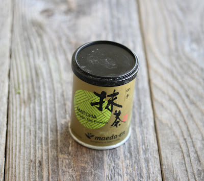 photo of a canister of matcha