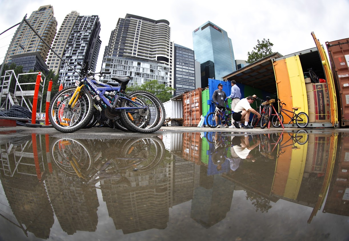 Sydney bikes on their way to Africa