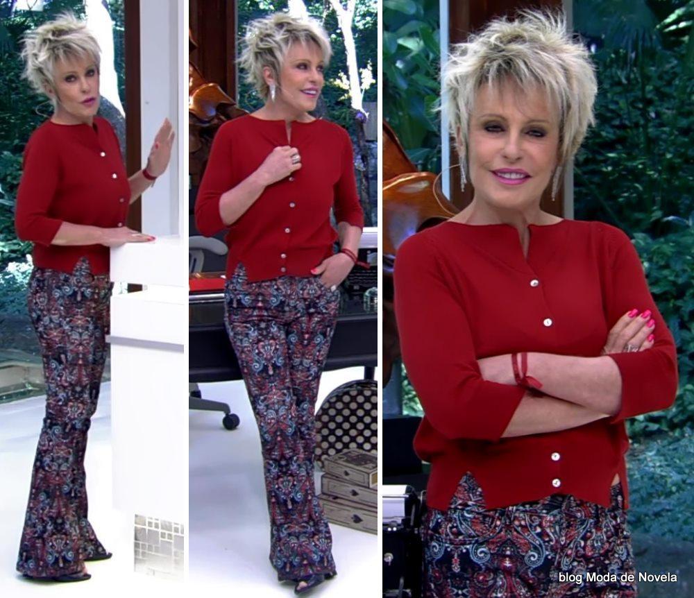 moda do programa Mais Você - look da Ana Maria Braga dia 12 de maio
