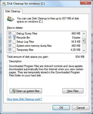 Free up space on disk