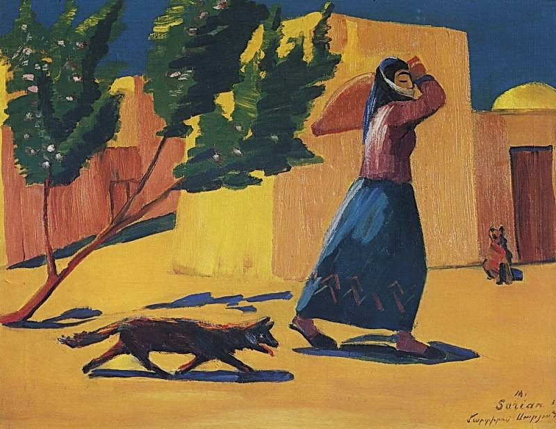 Martiros Saryan - To the spring, 1926