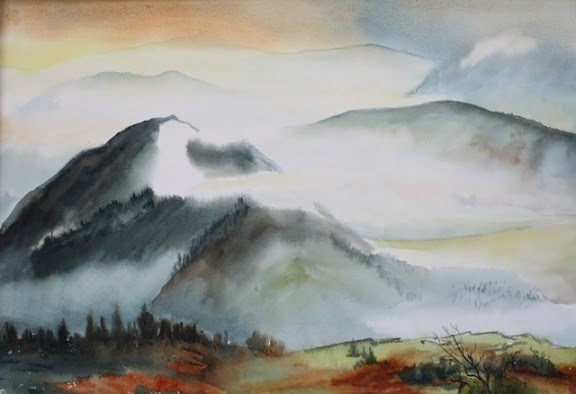 """""""Mountains"""" by artist Natalie Fleming."""
