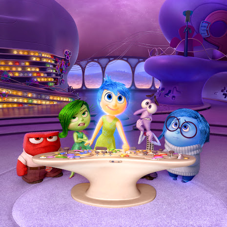 Meet your emotions: Joy (Amy Poehler), Fear (Bill Hader), Disgust (Mindy Kaling), Anger (Lewis Black) and Sadness (Phyllis Smith) in Disney*Pixar's upcoming film Inside Out