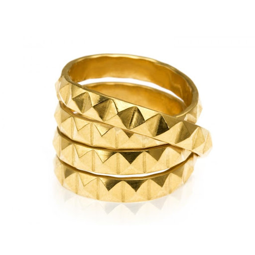 Mollie Gold Vermeil Studded Wrap Ring by Daisy Knights