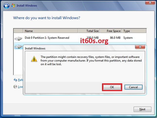 Thủ thuật khắc phục lỗi 0x80070057 khi cài Windows 7 14