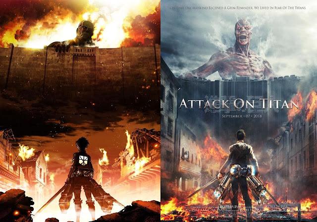 ファンによる実写版「進撃の巨人」のポスター