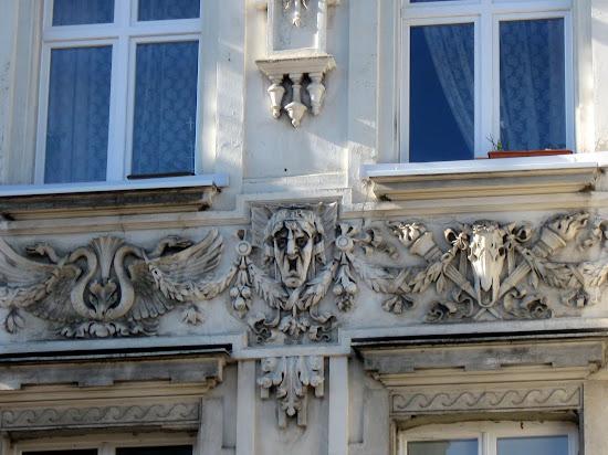 Łódź - zdobienia kamienic