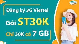 Miễn phí 7GB trong 7 Ngày với Gói ST30K Viettel
