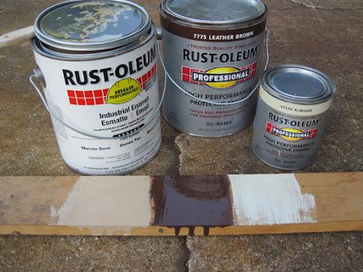 Gloss Almond Rustoleum Paint Job