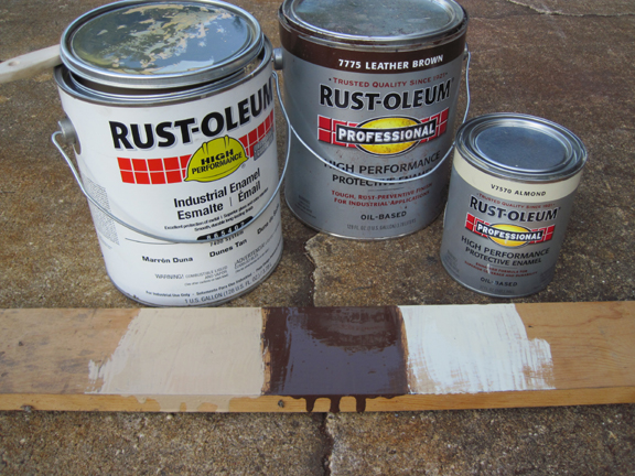 rustoleum calls dunes tan and leather brown work really well together. Black Bedroom Furniture Sets. Home Design Ideas