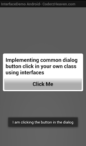 Interfaces in Android Demo