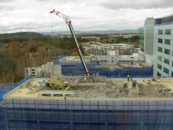 demolition and crane