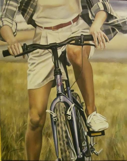 Exposición en resaca,Pintura de Marta Astrain