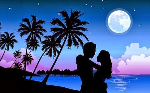 Ảnh đẹp đôi tình nhân bên bờ biển