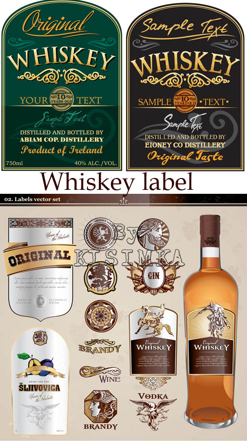 Stock: Whiskey label