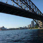 Looking under the Sydney Harbour Bridge to the Opera House (342100)