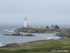 Pigeon Point Lighthouse in the north