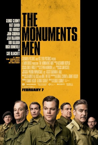 Poster Of English Movie The Monuments Men (2014) Free Download Full New Hollywood Movie Watch Online At Alldownloads4u.Com