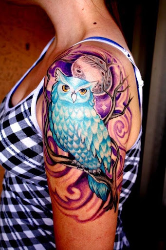 owl tattoos for girls