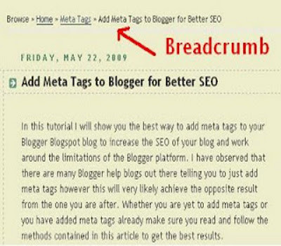 Adding Breadcrumb Navigation to Blogger