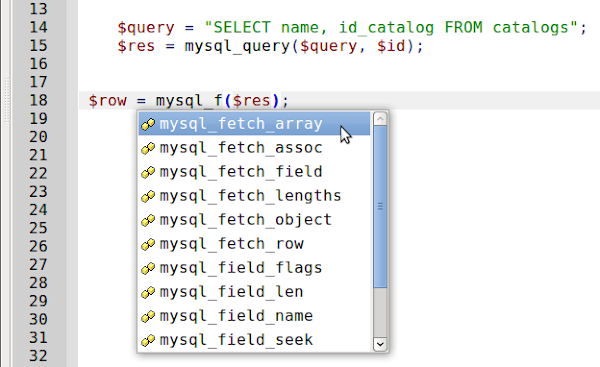 choice mysql_fetch function