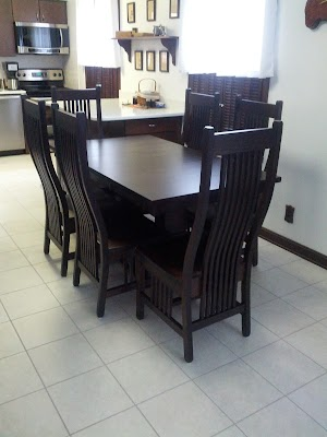 42″ x 36″ Tuscany Dining Table and Vail Dining Chairs in Twilight Oak