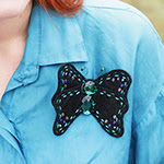 Felt Butterfly Brooch