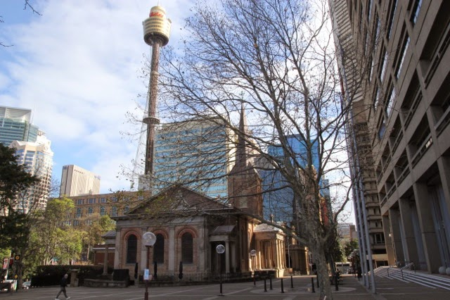 Sydney's first permanent Church, designed by a convict, Francis Greenway, a forger whose face is on a banknote!