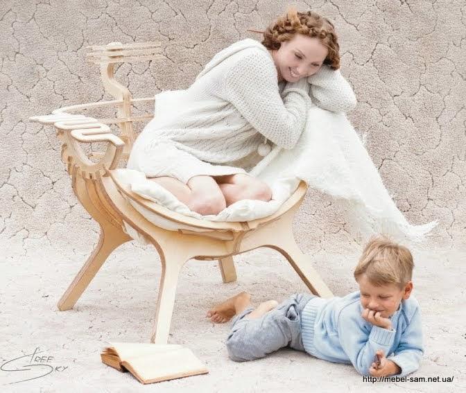 Фанерное кресло от TreeSky