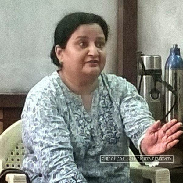 Diana Rawal at a theatre workshop in Ahmedabad. <br />