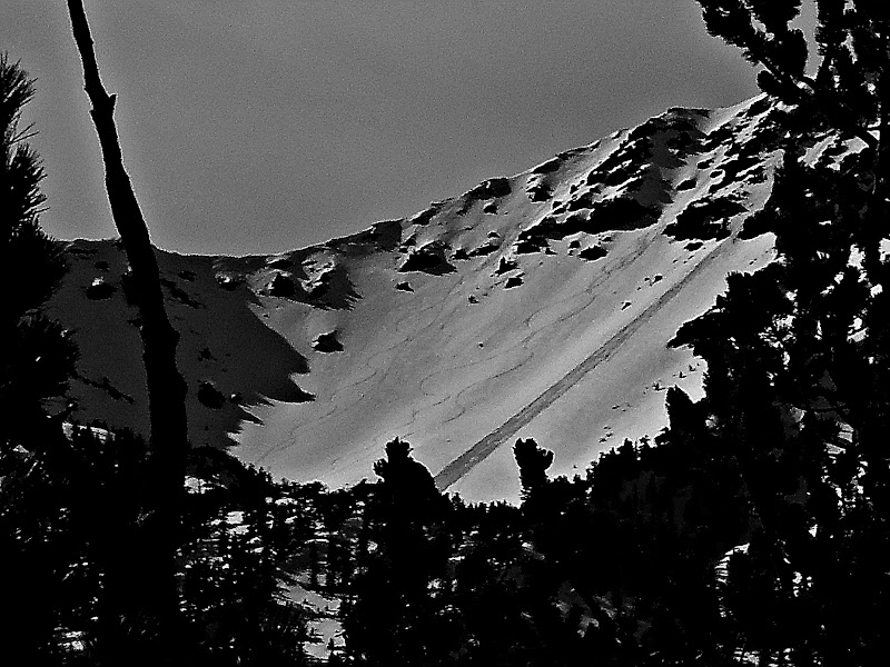 loose snow avalanche in humphrey's cirque - kachina peaks avalanche
