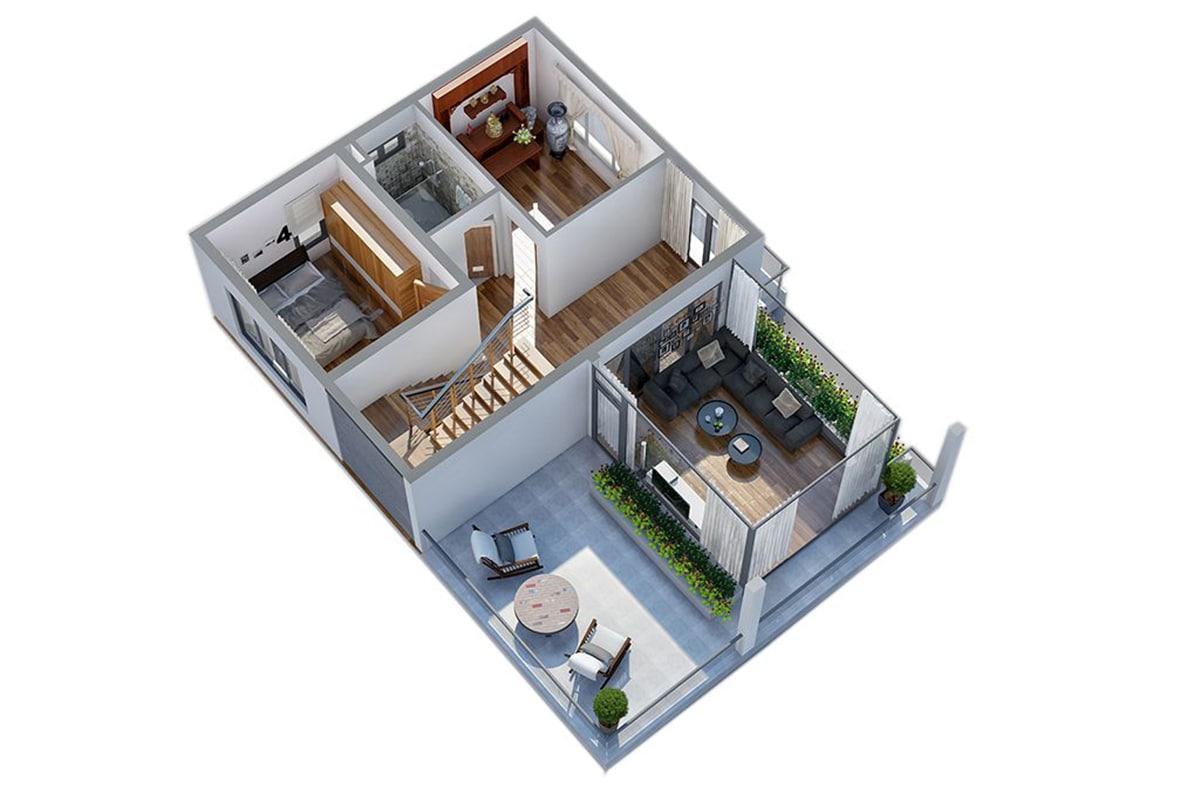 Mặt bằng tầng 2 Biệt thự Ngọc Trai FLC Sầm Sơn