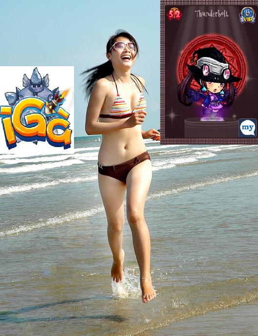 """Game thủ iGà khoe ảnh """"nóng bỏng"""" trên bãi biển 2"""