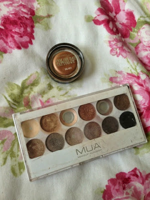 Maybelline's eye shadow bases and MUA palettes
