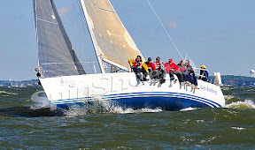J/109 one-design racer cruiser sailboat- sailing in Annapolis, MD