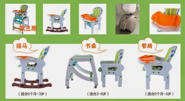 GroupMe 3 In 1 Multifunction Baby High Chair Pay only  : baby dining chair rocker chair study table chair from www.groupme.my size 750 x 408 jpeg 64kB