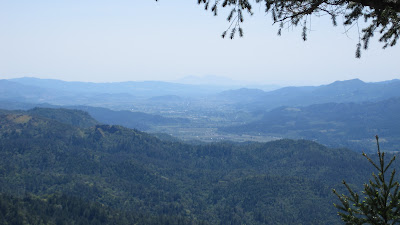 From an overlook, we could see all the way to Mt. Diablo
