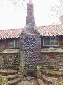 Front view of the Runton Smithy chimney