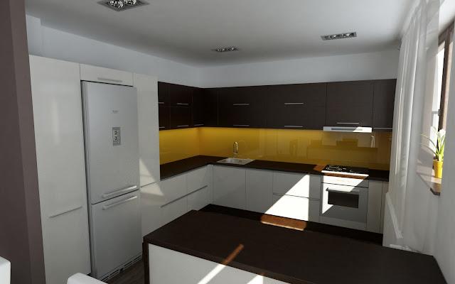 design bucatarie galben