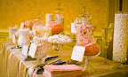 Pink and Gold Vegan Candy Buffet