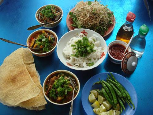 rau ăn kèm với món Mỳ Quảng