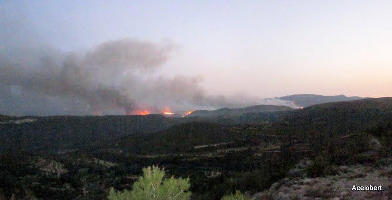 Incendio de Yátova, Dos Aguas y Cortes de Pallás