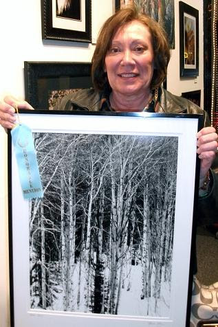"""Honorable Mention: """"Aspen Frost"""" by Marcia Gay."""