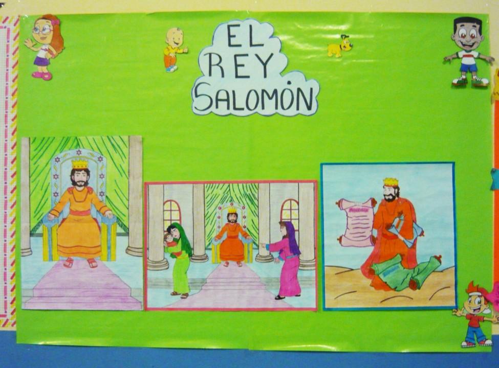 Manualidad El Rey Salomon: Memorizando El Versiculo De La Semana...