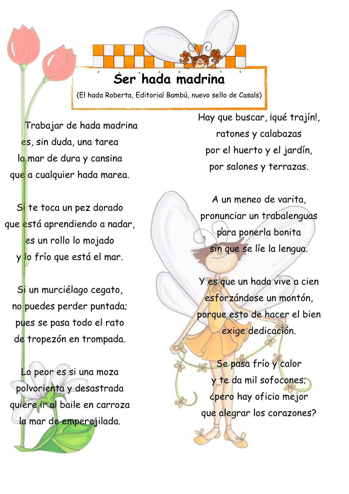 Poemas En Ingles Para Ninos