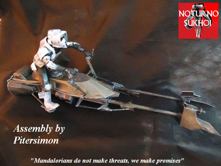 Star Wars 74Z Speeder Bike Papercraft
